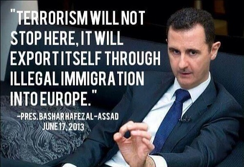 Afbeeldingsresultaat voor assad on terrorists quote