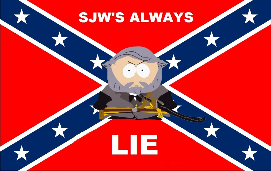 rebel flag social justice warrior