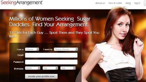 Seeking Arrangement Website Homepage