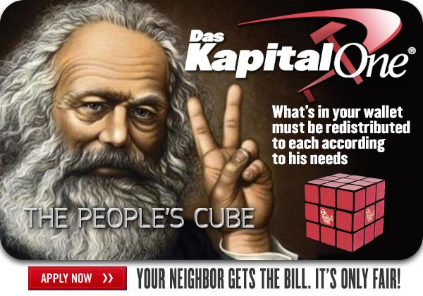 karl marx, socialism, capitol one, wealth redistribution,