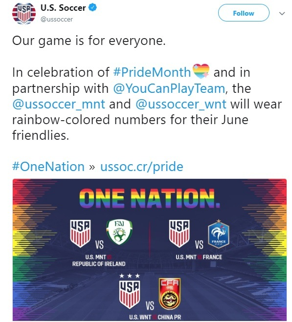 US Soccer Gay Pride Jerseys